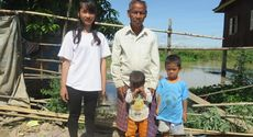 Mr. Artt Ngou is 75 years old and his family.