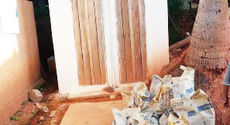Additional sanitation blocks are ready for the villagers